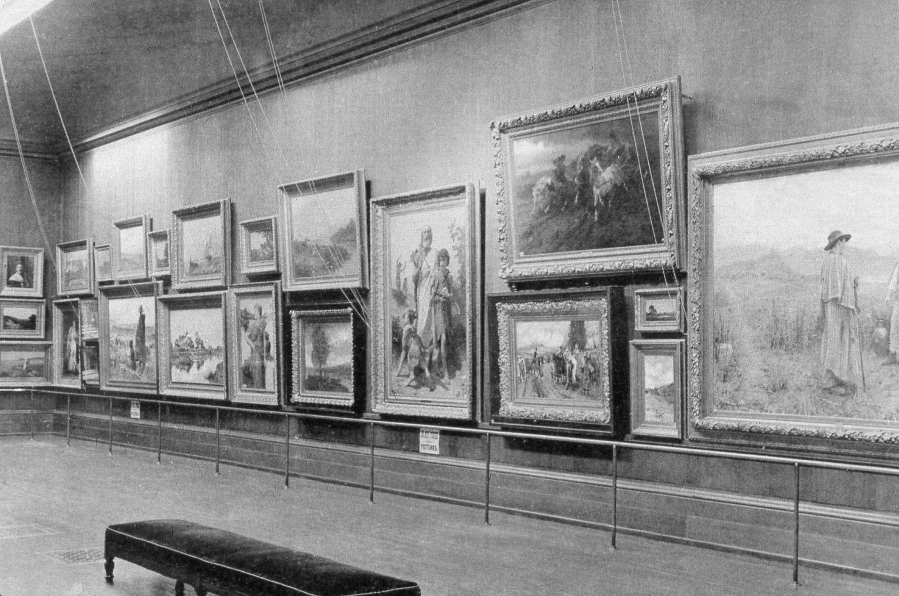 Installation At The Layton Art Gallery Ca 1910 Milwaukee Museum Institutional