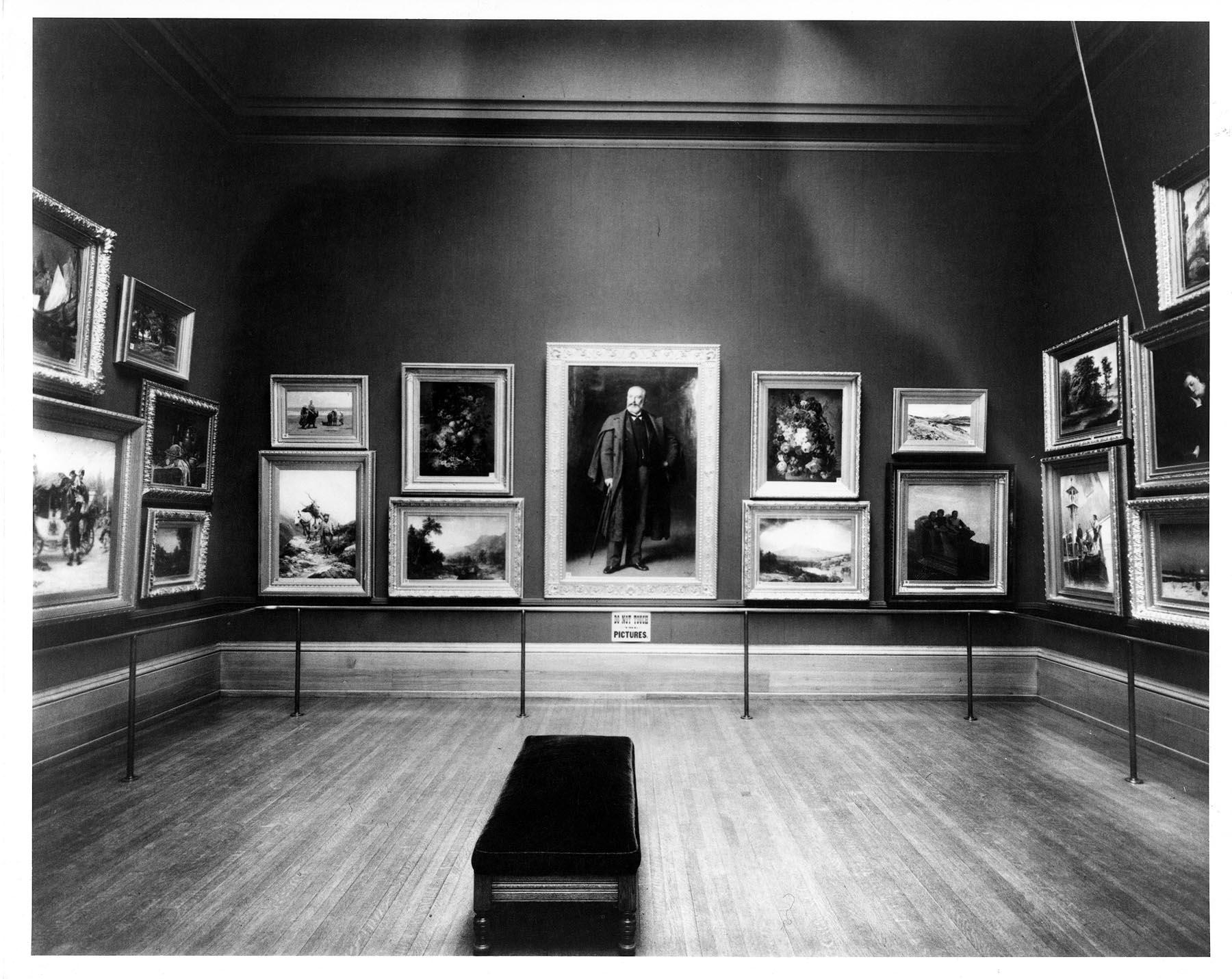 Art Gallery Wall mr. layton's gallery–the salon-style hang | milwaukee art museum blog