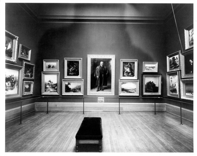 Installation at the Layton Art Gallery, ca. 1910, Milwaukee Art Museum, Institutional Archives