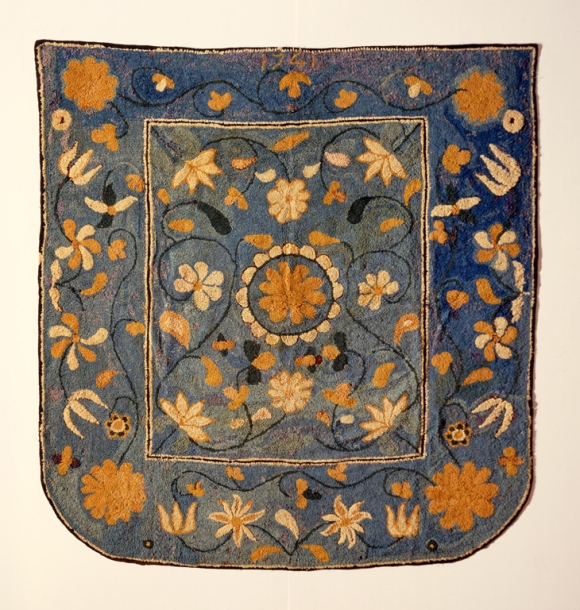 Hannah Baldwin (Canterbury, Connecticut, active 18th century), Bed Rug, 1741. Wool. Milwaukee Art Museum, Layton Art Collection, Purchase.