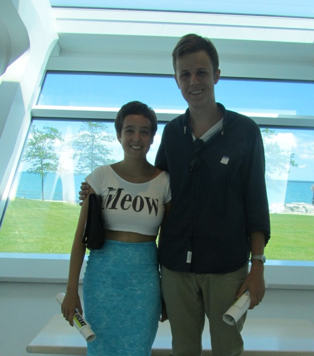 Justin Henry and Marissa Mindiola visit the Museum on July 24, 2013. Photo by the author.