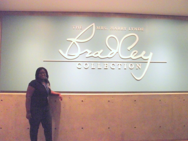 Dominique in the Bradley Collection. Photo by Emerald Summersq