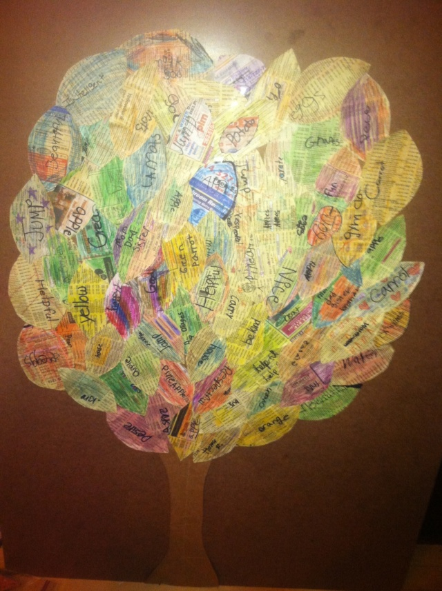 Healthy Word Tree. Photo courtesy of Fondé Bridges