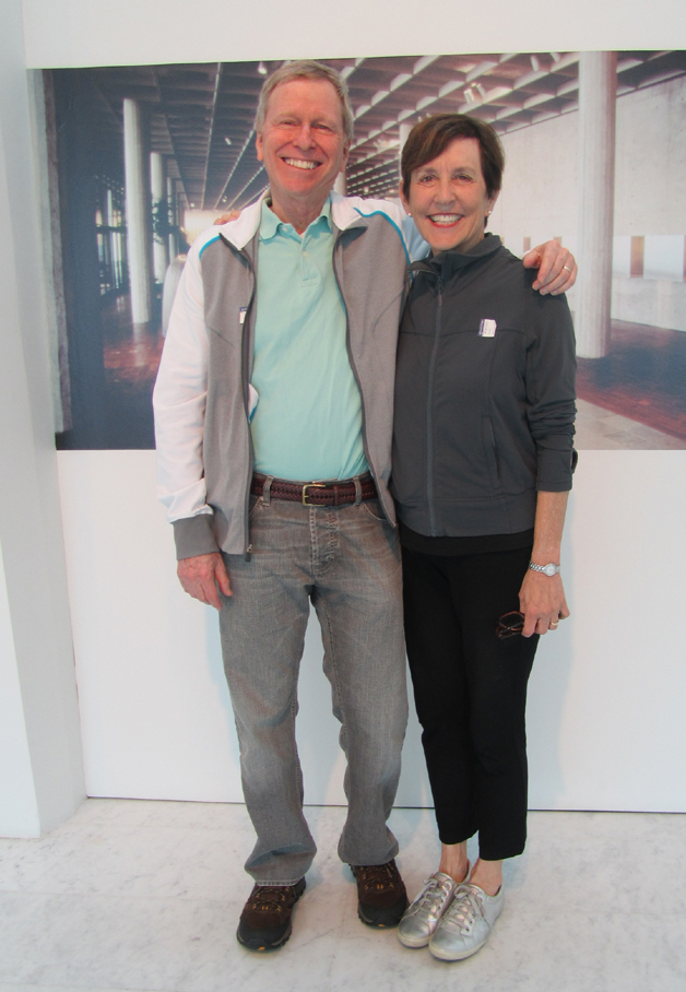 Roger Goldman and Stephanie Rivers visit the Museum on August 22, 2013. Photo by the author.