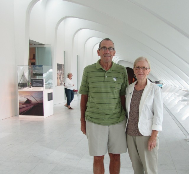 Sharon and Schuyler Seager visit the Museum on August 5, 2013. Photo by the author.