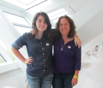 Elysia Powers and Tori Transut(?) visit the Museum on August 22, 2013. Photo by the author.