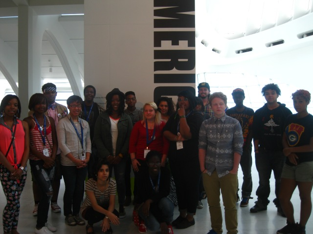 ArtXpress Teens with 30 Americans artist Nina Chanel Abney. Photo by Tim Abel
