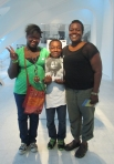 Tyree, Marcus, and Yulonda Anderson visit the Museum on August 30, 2013. Photo by the author.