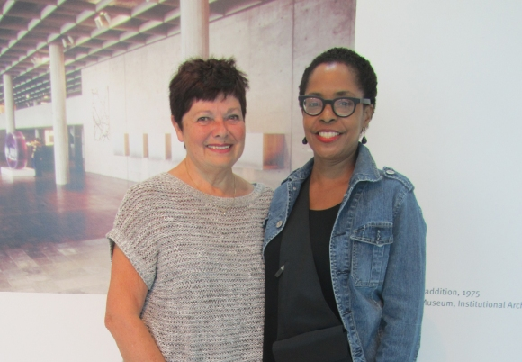 Karin Ormson and Valerie Curry visit the Museum on August 28, 2013. Photo by the author.