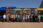 Group shot of the ArtXpress teens with their mural! Photo by Front Room Photography