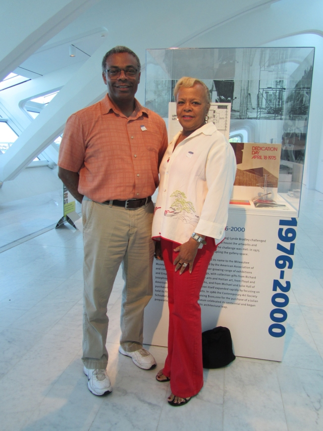 Dave Ross and Geraldine Sykes visit the Museum on September 5, 2013. Photo by the author.