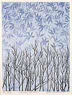 Keiji Shinohara (Japanese, b. 1955), Winter Garden, 1998. Color woodcut. Milwaukee Art Museum, gift of Print Forum, M2005.1. Photo credit John R. Glembin