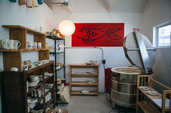 Studio and Kiln. Photo by Megan Yanz Photography