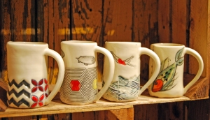 You could win these mugs in this blog post giveaway! Photo by the author