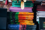 Stack of books. Photo by Megan Yanz Photography