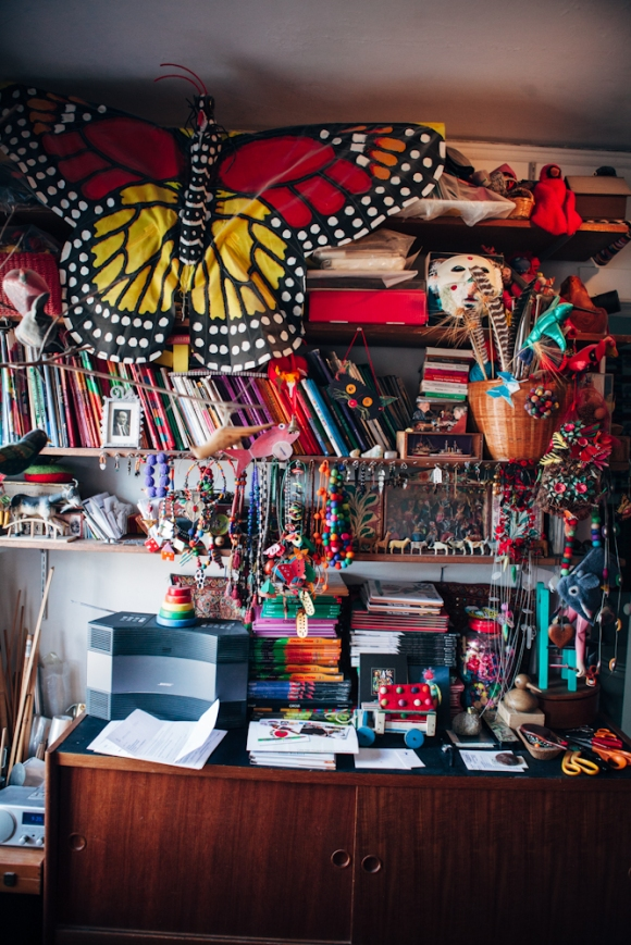 Shelves, as seen in the Scraps Book. Photo by Megan Yanz Photography