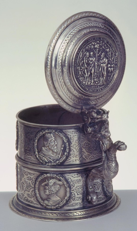 Kornelius Erb (German, Augsburg, ca. 1560-1618). The Erb Tankard, 1580/85. Silver. Milwaukee Art Museum, Gift of Richard and Erna Flagg, M1991.85. Photo credit John Nienhuis