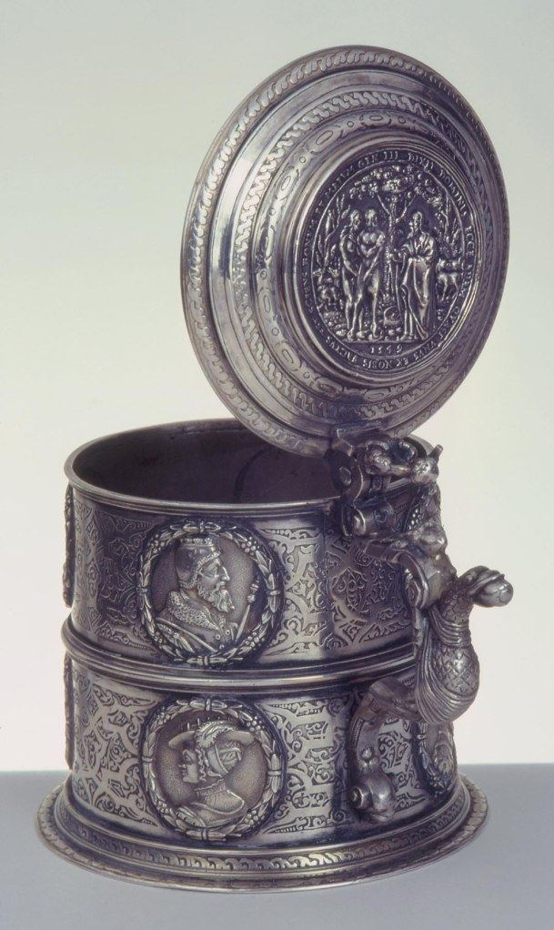 Kornelius Erb (German, Augsburg, ca. 1560-1618). The Erb Tankard, 1580/85. Silver. Milwaukee Art Museum, Gift of Richard and Erna Flagg, M1991.85. Photo credit John Nienhuis