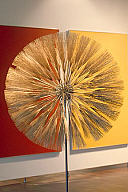 Harry Bertoia (American, b. Italy, 1915–1978), Dandelion, 1970. Gold-plated bronze and beryllium. Milwaukee Art Museum, Gift of Mrs. Harry Lynde Bradley M1975.131. Photo credit: P. Richard Eells. © 2010 Estate of Harry Bertoia / Artists Rights Society (ARS), New York
