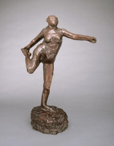 Edgar Degas (French, 1834–1917), Dancer Holding Her Right Foot in Her Right Hand [Danseuse tenant son pied droit dans la main droit], ca. 1904; cast 1919–20. Bronze. Purchase, Bradley Conservation Endowment Fund M1984.70. Photo credit: John R. Glembin.