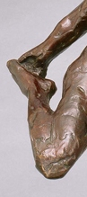 Edgar Degas (French, 1834–1917), Dancer Holding Her Right Foot in Her Right Hand [Danseuse tenant son pied droit dans la main droit] (detail), ca. 1904; cast 1919–20. Bronze. Purchase, Bradley Conservation Endowment Fund M1984.70. Photo credit: John R. Glembin.