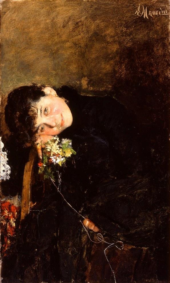 Antonio Mancini (Italian, 1852–1930), On the Eve of Her Wedding, ca. 1882. Oil on canvas. Milwaukee Art Museum, Gift of Mrs. S. S. Merrill M1919.33. Photo by John Glembin.