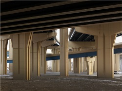 Donovan Wylie (British, b. Northern Ireland, 1971). The Preparatory City. Marquette Interchange, Milwaukee, Wisconsin, 2014. Inkjet print, 60 × 80 in. (152.4 × 203.2 cm). Milwaukee Art Museum, purchase, Herzfeld Foundation Acquisition Fund, M2014.36.