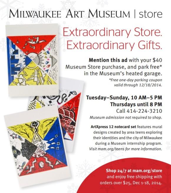 Museum Store Advertisement featuring ArtXpress notecard set