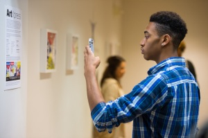 Documenting the ArtXpress installation. Photo by Front Room Photography