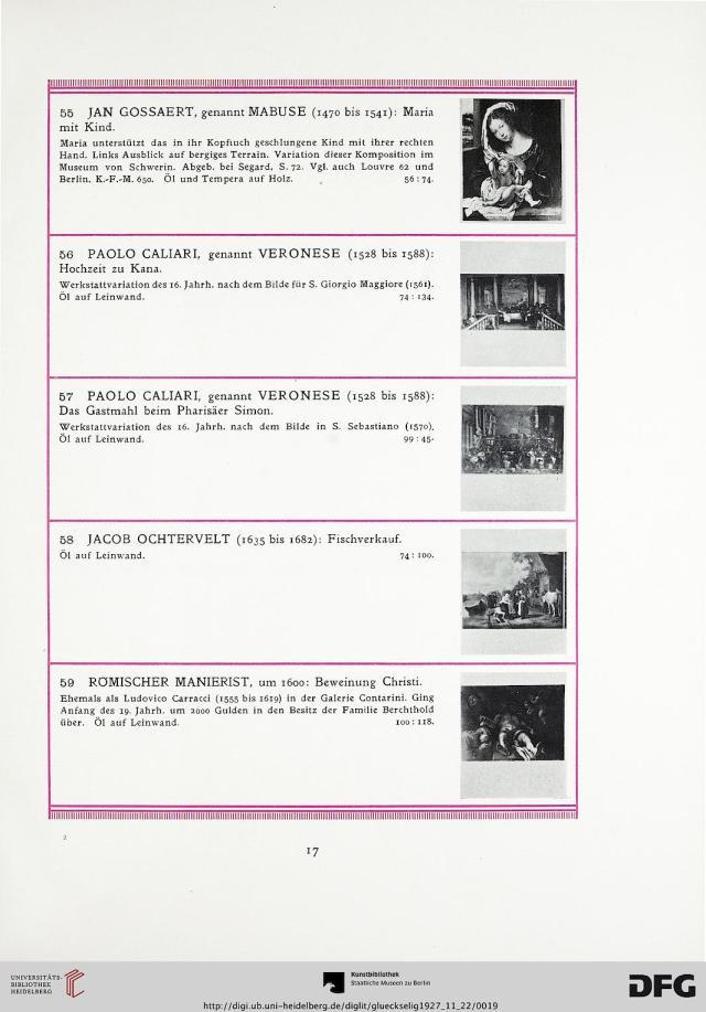 Page 17 of Nachlass Viktor und Helene Mautner-Markhof: Mobiliar, Gemälde und Ziergegenstände der Neuzeit. Image courtesy of Heidelberg University Library.
