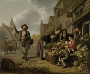 Jan Victors (Dutch, 1619-after 1676), The Greengrocer's Shop De Buyskool, 1654. Oil on canvas. Rijksmuseum, Amsterdam, Purchased with the support of the Vereninging Rembrandt, SK-A-2345.
