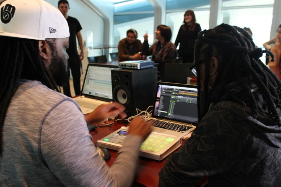 H2O Milwaukee Music visits the Spring 2015 Satellite interns. Photo by Satellite teens