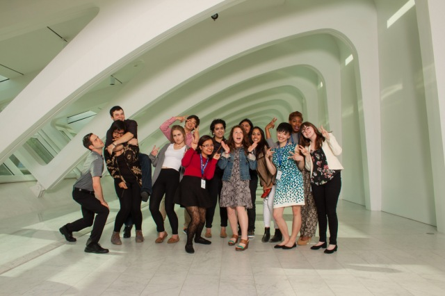 The 2015 Spring Satellite Interns (funny face version). Photo by Front Room Photography