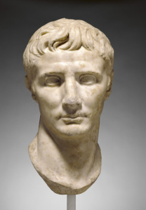 Portrait Head of the Roman emperor Augustus, ca. 25–1 BC. Marble. The J. Paul Getty Museum 78.AA.261. Digital image courtesy of the Getty's Open Content Program.