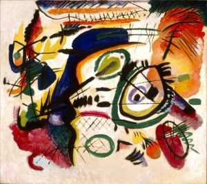Wassily Kandinsky (Russian, 1866–1944), Fragment I for Composition VII (Center), 1913. Oil on canvas. Milwaukee Art Museum, Gift of Mrs. Harry Lynde Bradley M1958.12. Photo credit: Larry Sanders.