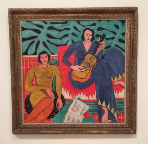 """Matisse's colorful """"La Musique"""" is featured in the exhibition Van Gogh to Pollock: Modern Rebels. Come check it out! Photo by the author."""