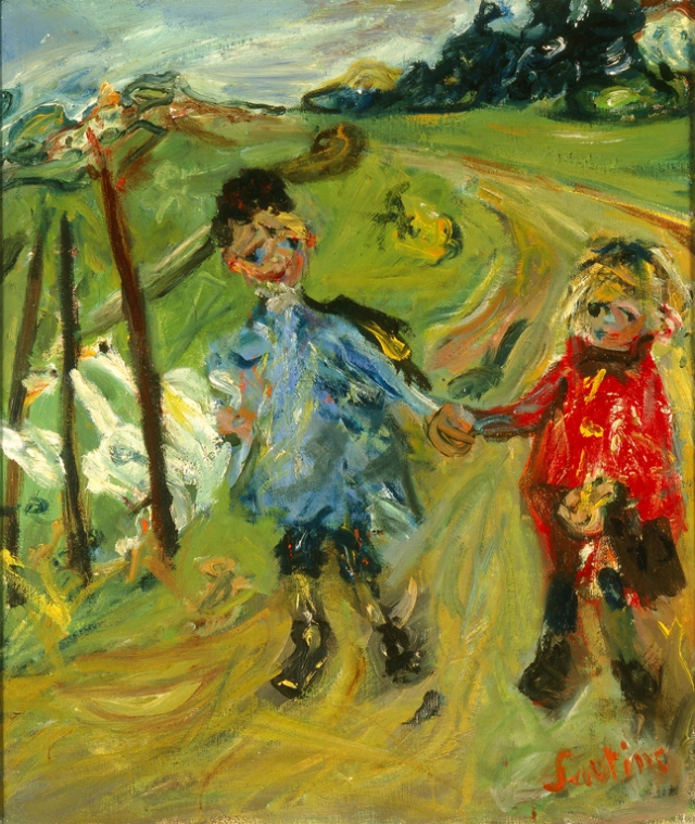 Chaïm Soutine (Russian, 1893–1943, active in France), Children and Geese, 1934. Oil on canvas. Milwaukee Art Museum, Gift of Mrs. Harry Lynde Bradley M1959.375. Photo credit: Efraim Lev-er. ©2010 Artists Rights Society (ARS), New York / ADAGP, Paris.