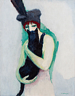 Kees van Dongen (Dutch, 1877–1968), Woman with Cat, 1908. Oil on canvas. Milwaukee Art Museum, Gift of Mrs. Harry Lynde Bradley M1975.170. Photo credit: John R. Glembin. ©2010 Artists Rights Society (ARS), New York / ADAGP, Paris