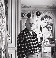 Lucien Clergue (French, b. 1934), Picasso at Californie near Massacres en Coree, Cannes, 1955, printed 1981. Gelatin silver print. Milwaukee Art Museum, The Floyd Segel Collection, Centennial Gift of Wis-Pak Foods Inc. M1988.68b. Photo credit: John R. Glembin.© Licensed by VAGA, New York, NY.