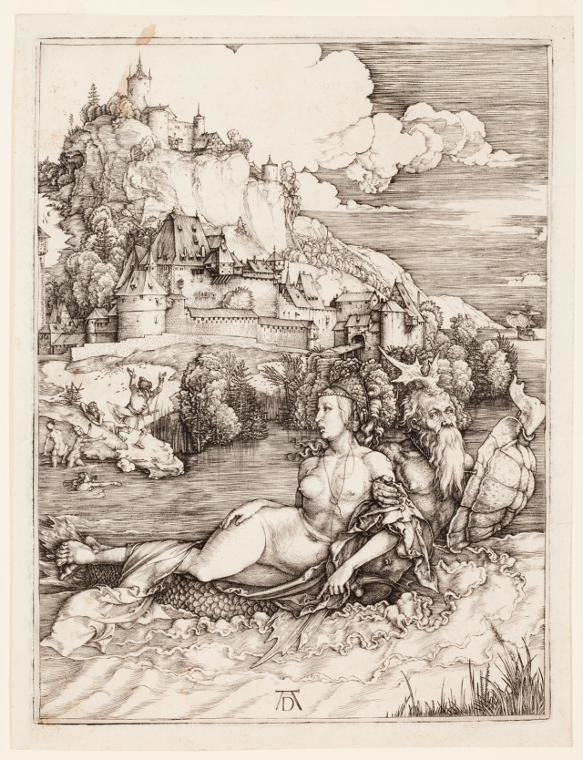 Albrecht Dürer (German, 1471–1528), The Sea Monster (Das Meerwunder), 1498. Engraving. Milwaukee Art Museum, Gertrude Nunnemacher Schuchardt Collection, presented by William H. Schuchardt M1924.173. Photo credit: John R. Glembin.