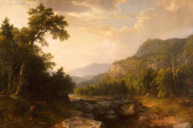 Asher Brown Durand (American, 1796–1886), In The Catskills, 1857. Oil on canvas. Milwaukee Art Museum, Layton Art Collection, Inc., Gift of Frederick Layton L105. Photo credit: Larry Sanders.