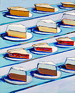 Wayne Thiebaud (American, b. 1920), Refrigerator Pies, 1962. Oil on canvas. Milwaukee Art Museum, Lent from the Estates of Bernard J. and Carol Gale Sampson L9.1997. Photo credit: Larry Sanders. © Licensed by VAGA, New York, NY