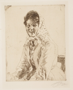 Anders Leonard Zorn (Swedish, 1860–1920), Skerikulla, 1912. Etching and engraving. Milwaukee Art Museum, Gertrude Nunnemacher Schuchardt Collection, presented by William H. Schuchardt M1924.140. Photo credit: John R. Glembin.
