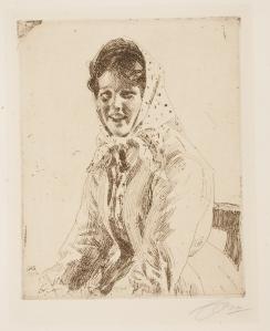 Anders Leonard Zorn (Swedish, 1860–1920), Skerikulla, 1912. Etching and engraving. Milwaukee Art Museum, Gertrude Nunnemacher Schuchardt Collection, presented by William H. Schuchardt M1924.140. Photo credit: John R. Glembin.