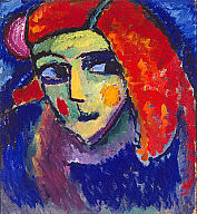 Alexei Jawlensky (Russian, 1864–1941), Pale Woman with Red Hair (Blasses Mädchen mit Roten Haaren), 1911–12. Oil on cardboard. Milwaukee Art Museum, Gift of Mr. and Mrs. Harry Lynde Bradley M1963.134. Photo credit: John R. Glembin. © Artists Rights Society (ARS), New York / VG Bild-Kunst, Bonn