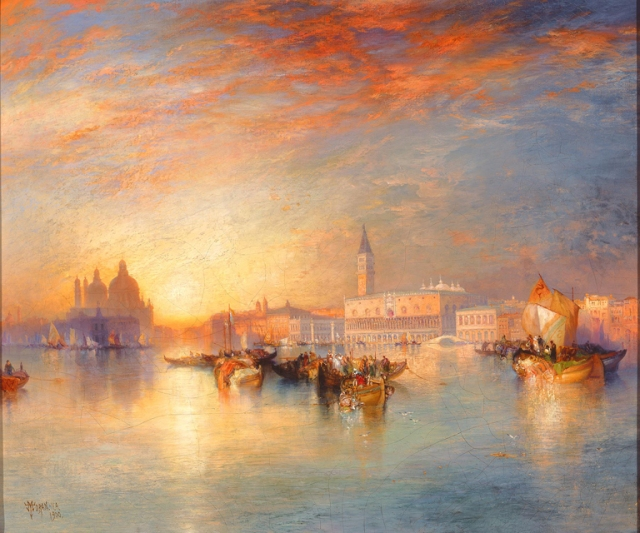 Thomas Moran (American, b. England, 1837–1926), Tranquil Day in Venice, 1900. Oil on canvas. Milwaukee Art Museum, Bequest of Catherine Jean Quirk M1989.62. Photo credit: John R. Glembin