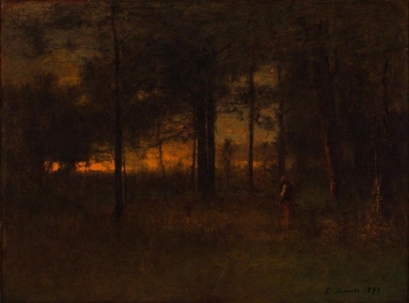 George Inness (American, 1825–1894), Sunset in Georgia, 1890. Oil on canvas board. Milwaukee Art Museum, Layton Art Collection, Inc., Gift of Frederick Layton L163. Photo credit: John R. Glembin