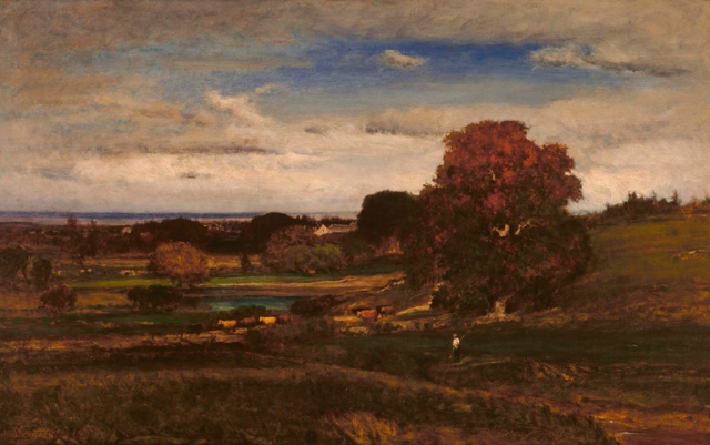 George Inness (American, 1825–1894), Autumn by the Sea, 1875. Oil on canvas. Milwaukee Art Museum, Bequest of Catherine Jean Quirk M1989.61. Photo credit: John Glembin