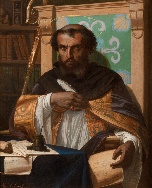 Alexandre Cabanel (French, 1823–1889), Saint Augustine in His Study, 1845. Oil on canvas. Milwaukee Art Museum, Purchase, with funds from Avis Martin Heller in honor of the Fine Arts Society and funds from the Fine Arts Society M2014. Photog credit: Jack Kilgore & Co, Inc.