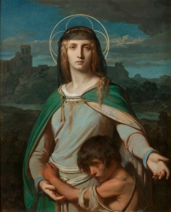 Alexandre Cabanel (French, 1823–1889), Saint Monica in a Landscape, 1845. Oil on canvas. Milwaukee Art Museum, Purchase, with funds from Avis Martin Heller in honor of the Fine Arts Society and funds from the Fine Arts Society M2014.9 Photo credit: Jack Kilgore & Co, Inc.
